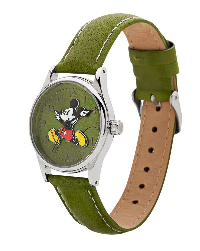 Disney Running Mickey Green Watch