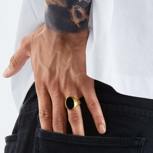 Thomas Sabo Ring Black Gold