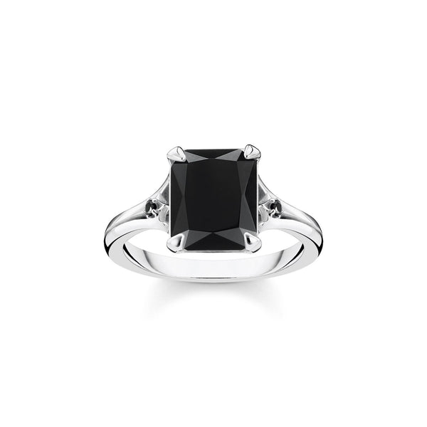 Thomas Sabo Ring Black Stone Silver
