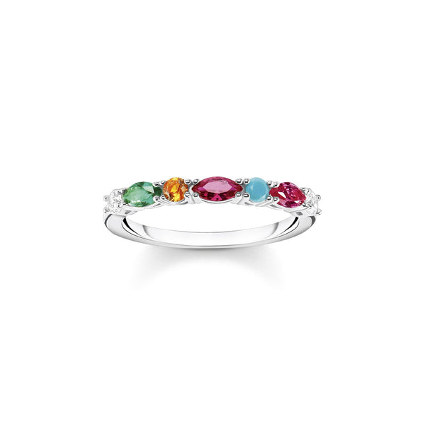 Thomas Sabo Ring Colourful Stones Silver