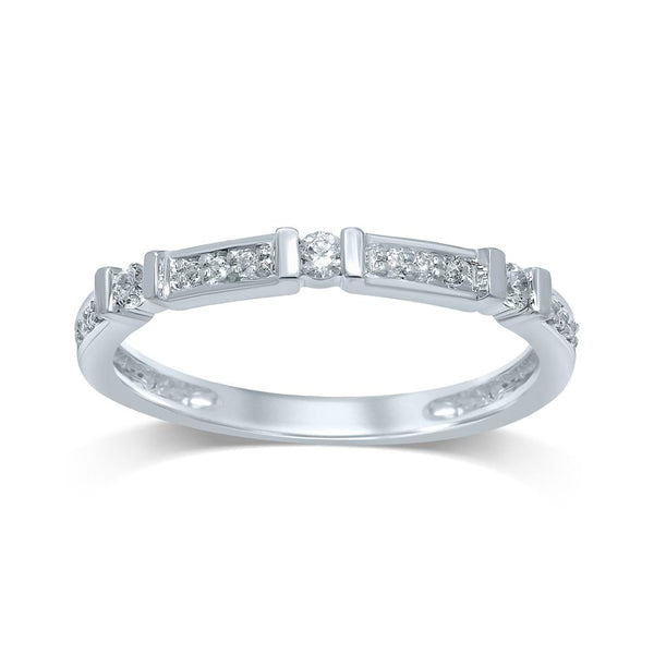9Ct White Gold 0.151Ct Diamond Ring