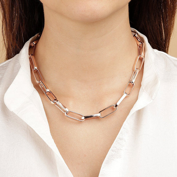 Bronzallure Elongated Link Necklace