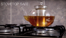 Load image into Gallery viewer, Glass Teapot with Stainless Steel Infuser
