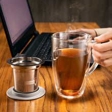 Load image into Gallery viewer, Glass Mug with Stainless Steel Infuser