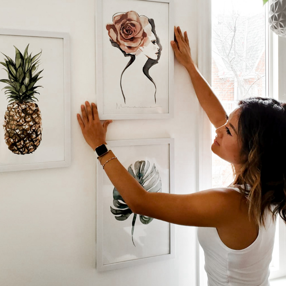 How To Properly Frame + Hang Artwork