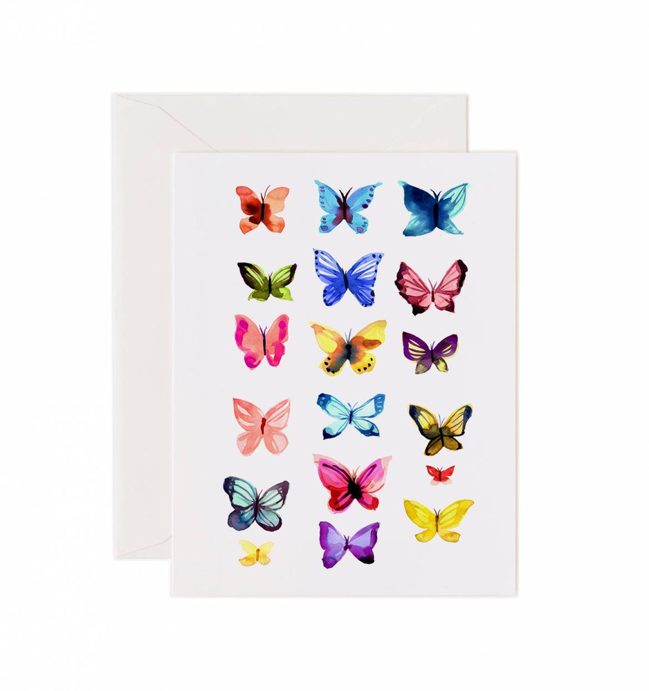 5x7 Notecard - Butterflies