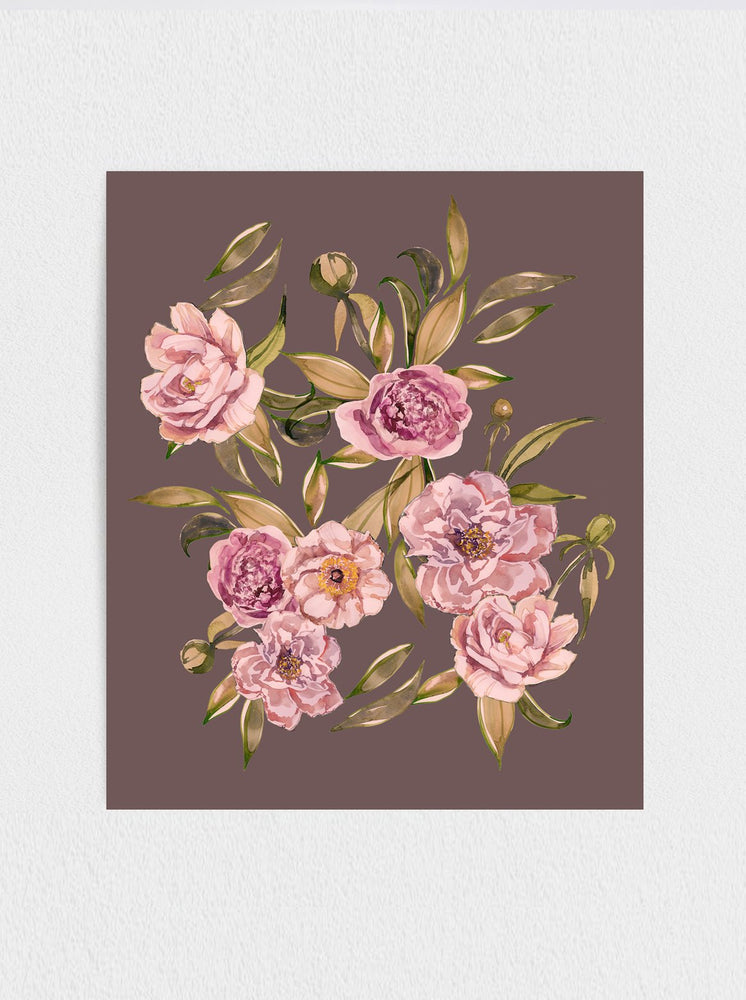 Load image into Gallery viewer, Peonies- Plum Print