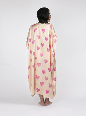 Load image into Gallery viewer, The Blush Hearts All Over Kimono