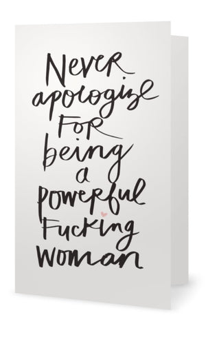5x7 Notecard - Powerful Woman Black Ink