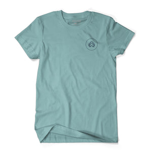 éclat Mini Icon Embroidery T-Shirt (Sea Blue)