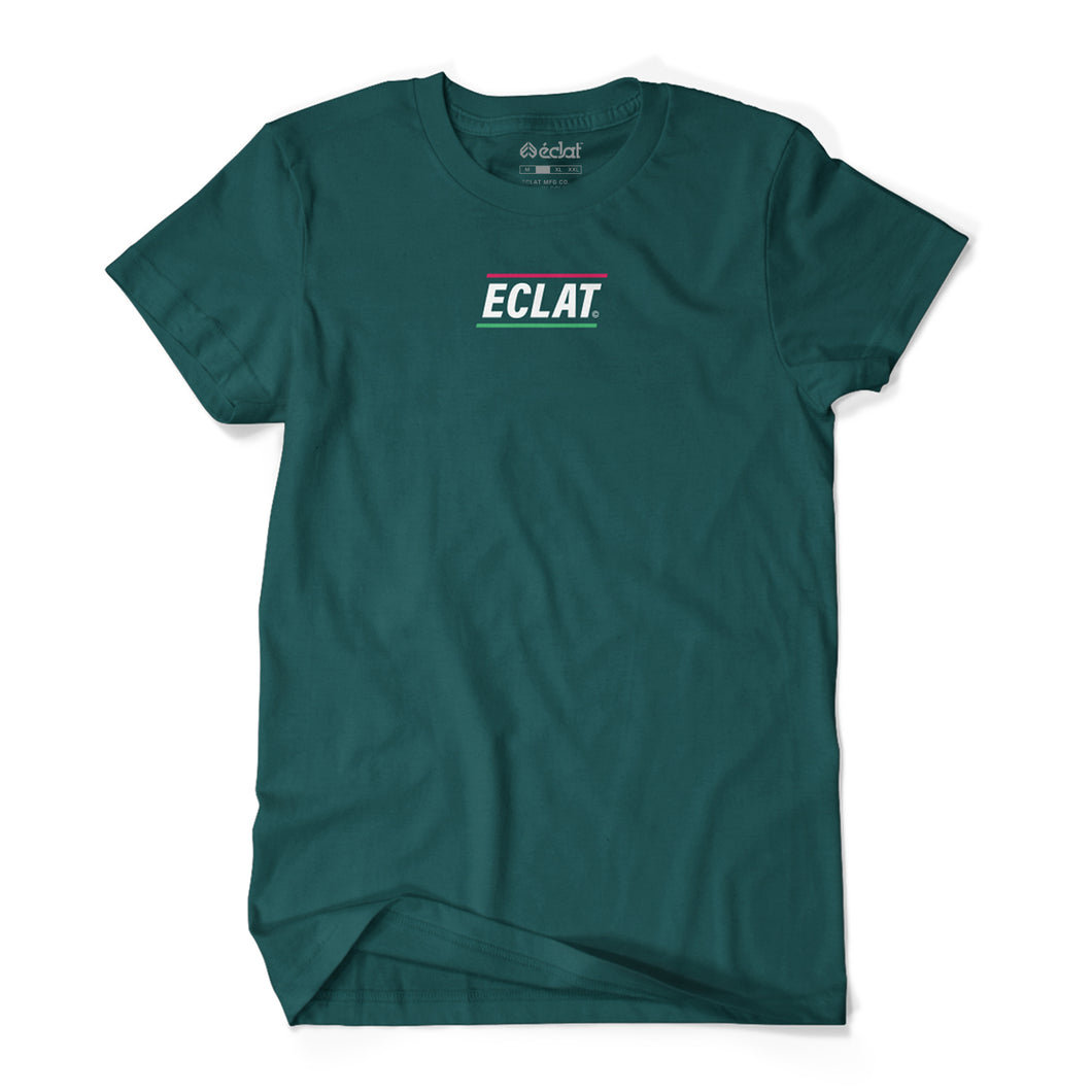 éclat Pizza Place Embroidery T-Shirt (Green)