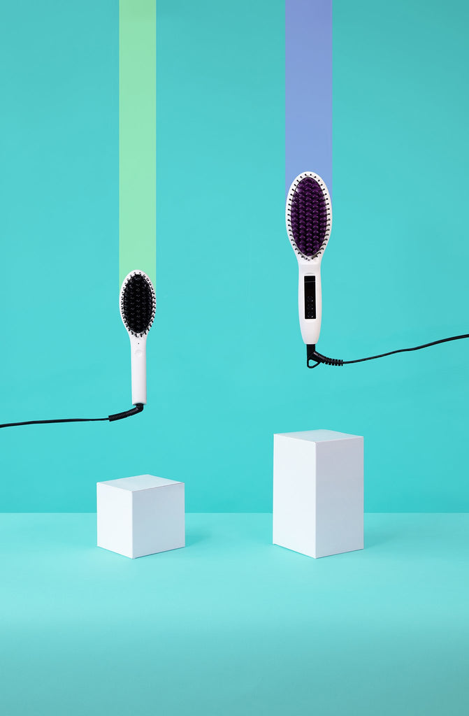 Want a sleek moment? Try a Ceramic Straightening Hair Brush