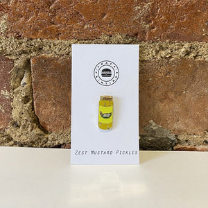 Zest Mustard Pickles Lapel Pin
