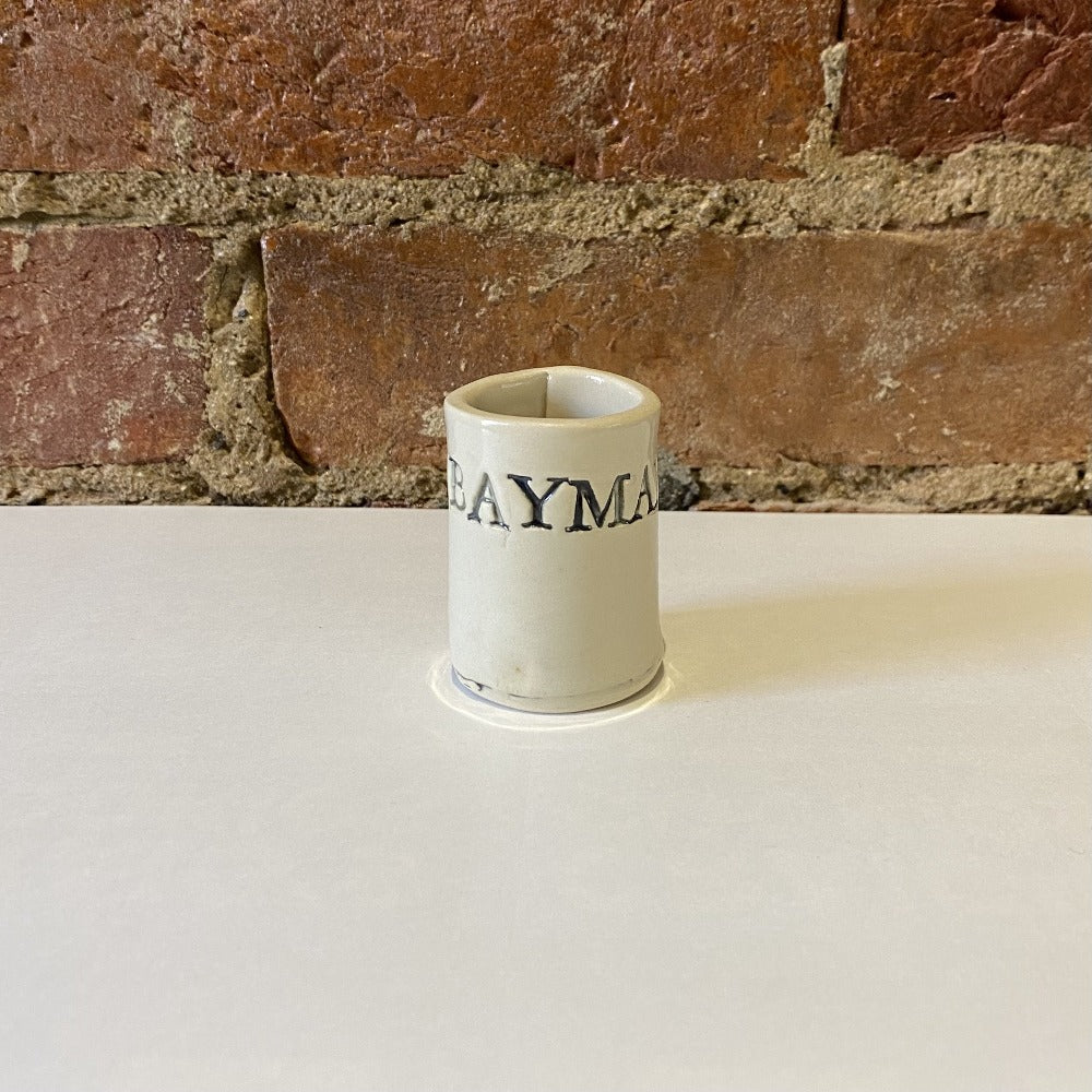 Saucy Pots White Shot Glass