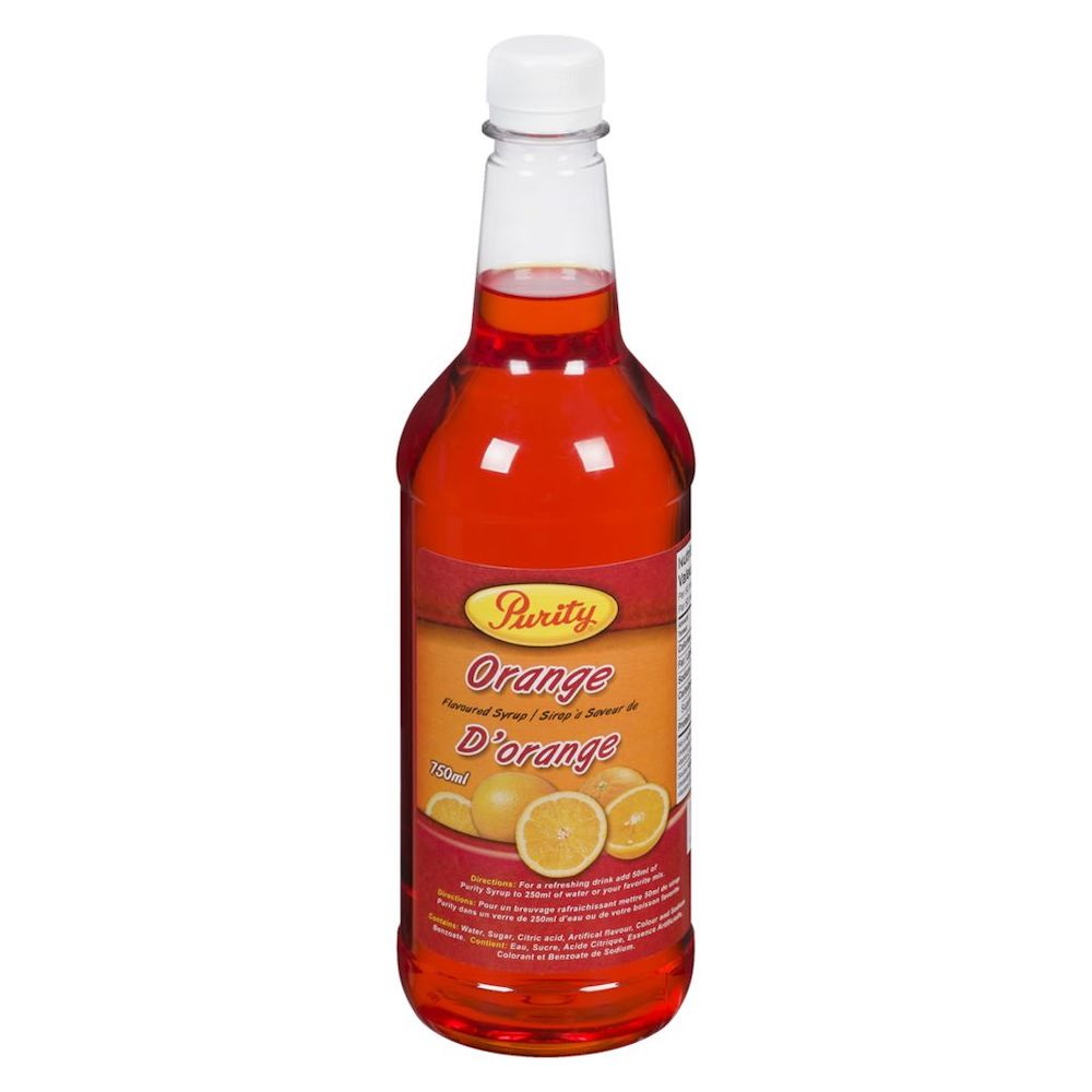 Purity Flavoured Syrup Orange