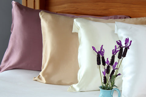 Mulberry Silk Pillowcases With Lavender