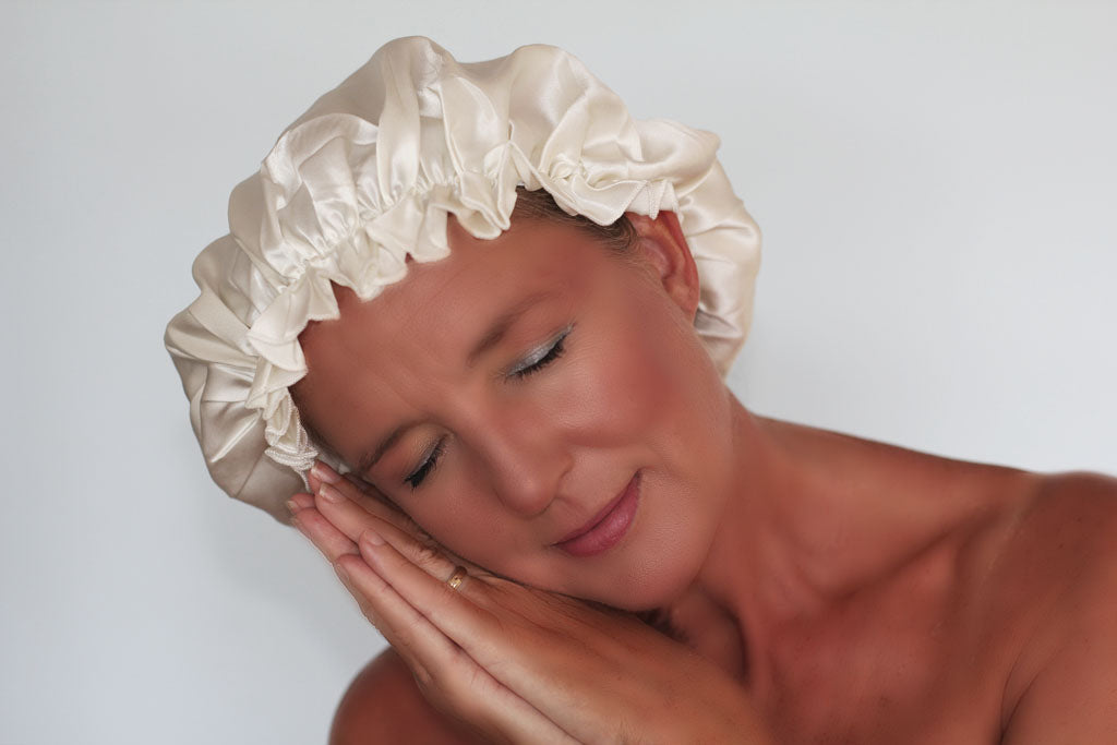 Silk Sleep Cap - Ivory Cream