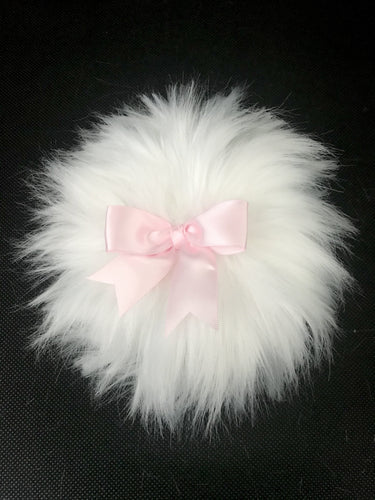 Large body powder puff - White Pink - MerryBath.com