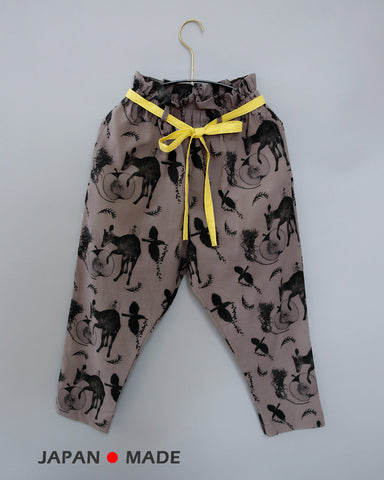 Mitirico/uchirico flora and fauna pants (charcoal) mr21SS-14