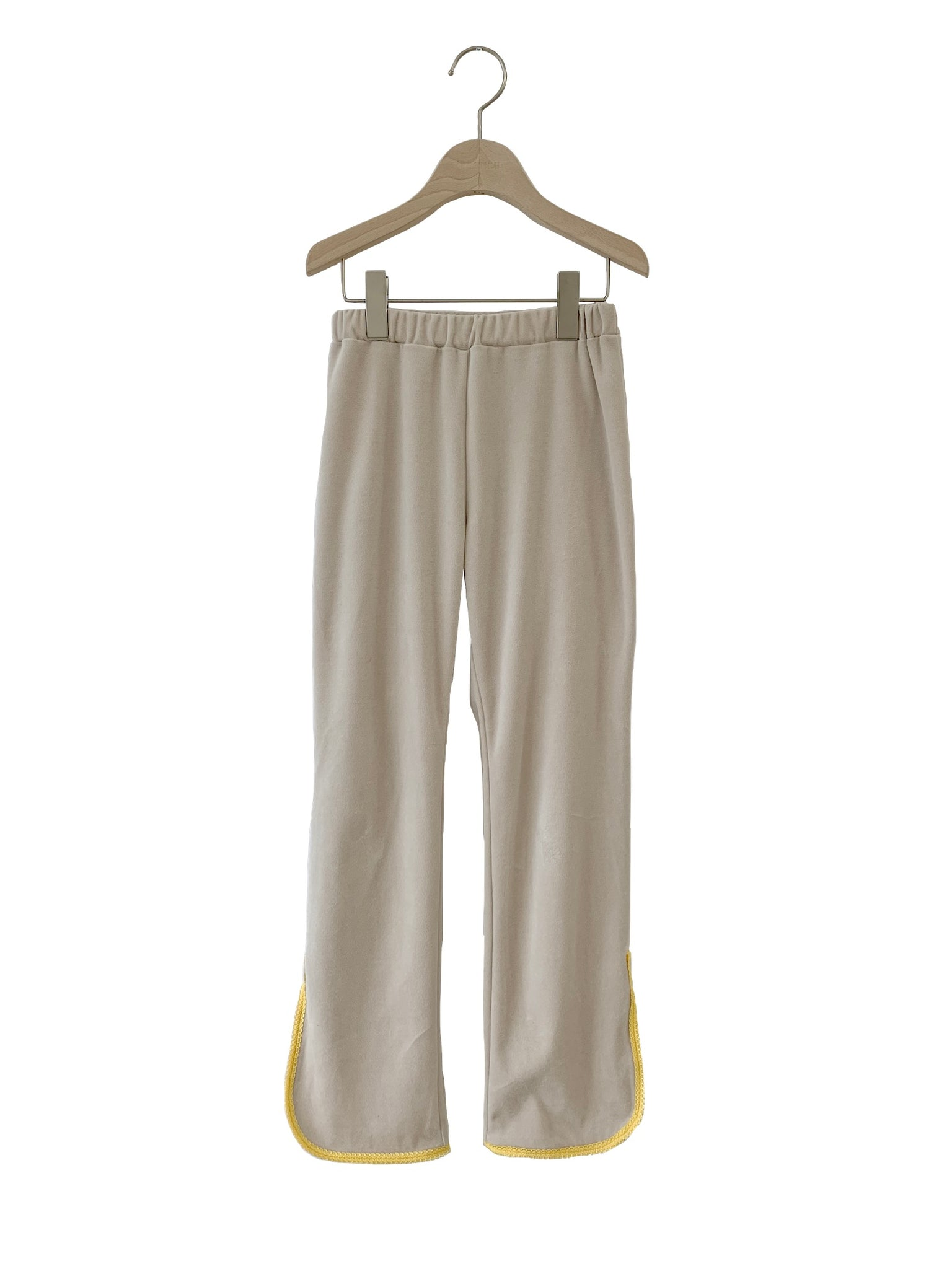☆reservation☆  UNIONINI / Unionini / velouers long pants (beige) pt-090 Delivery date September