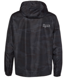 Razin Cain Showpigs - Black Camo Lightweight Windbreaker - Adult