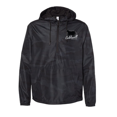 Caldwell Show Cattle - Black Camo Lightweight Windbreaker - Adult