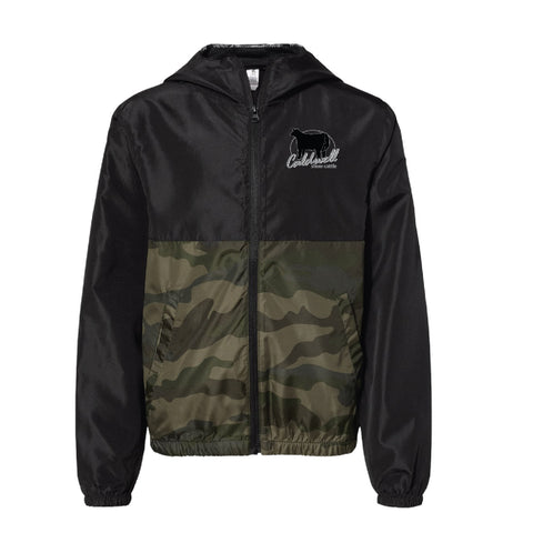 Caldwell Show Cattle - Black/Camo Windbreaker - Youth