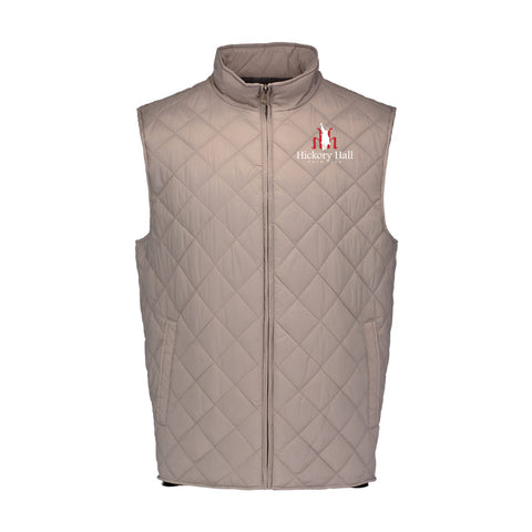 Hickory Hall Polo Club - Vintage Diamond Quilted Vest - Khaki - Mens/Unisex