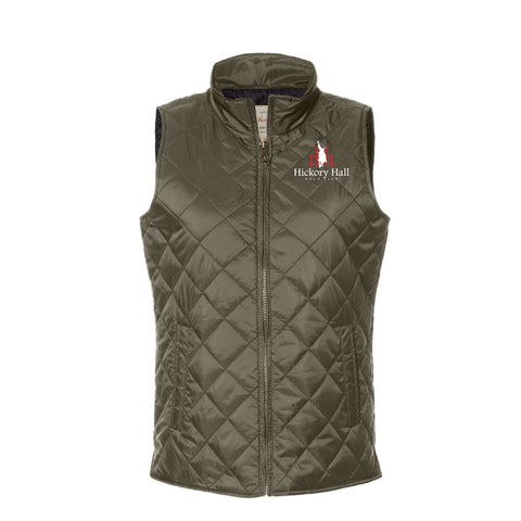 Hickory Hall Polo Club - Vintage Diamond Quilted Vest - Rosin - Womens