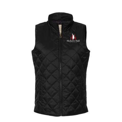 Hickory Hall Polo Club - Vintage Diamond Quilted Vest - Black - Womens
