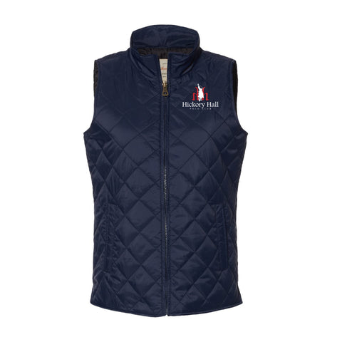 Hickory Hall Polo Club - Vintage Diamond Quilted Vest - Navy - Womens