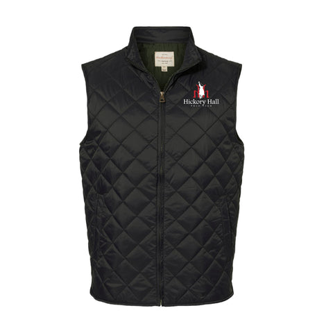 Hickory Hall Polo Club - Vintage Diamond Quilted Vest - Black - Mens/Unisex