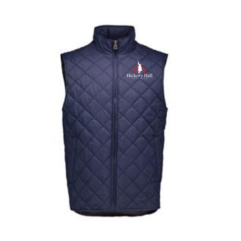 Hickory Hall Polo Club - Vintage Diamond Quilted Vest - Navy- Mens/Unisex