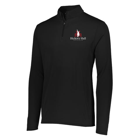 Hickory Hall Polo Club - Wicking Performance Quarter Zip - Black - Youth & Adult