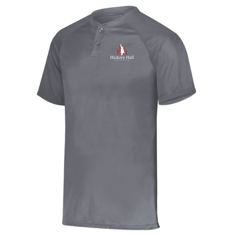 Hickory Hall Polo Club - Performance Two Button Jersey - Graphite - Youth & Adult
