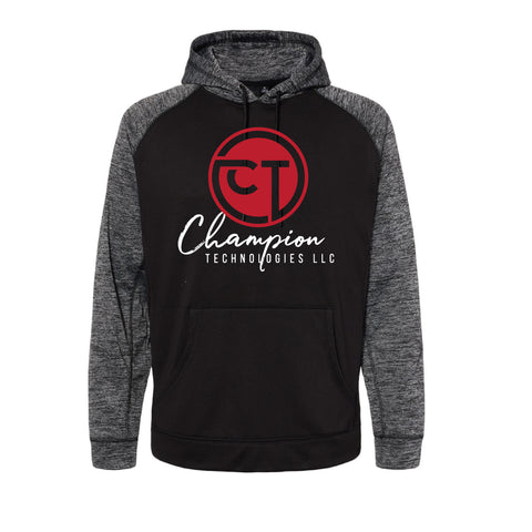 CT Performance Raglan Pullover Sweatshirt - Black/Heather Charcoal - Mens/Unisex