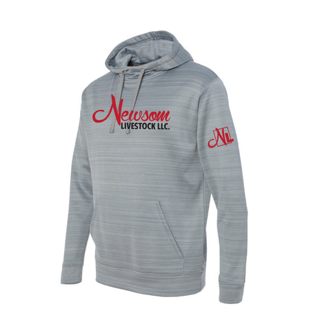 NL Odyssey Striped Performance Fleece Hooded Sweatshirt - Granite - Mens/Unisex