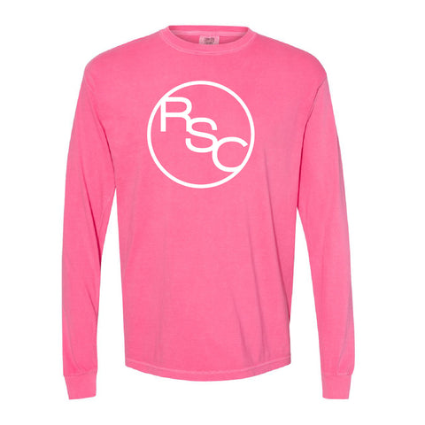 Rule Sheep Co - Garment Dyed Heavyweight Long Sleeve Tshirt - Adult - Pink