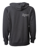 Razin Cain Showpigs Double Loop Hoodie - Charcoal Heather - Adult/Unisex **See sizing note**