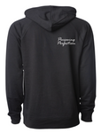Razin Cain Showpigs Double Loop Hoodie - Black - Adult/Unisex **See sizing note**