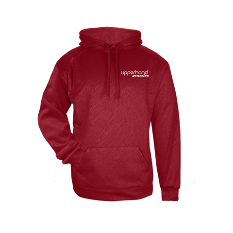 Upperhand Line Embossed Hooded Sweatshirt - Red - Youth & Adult