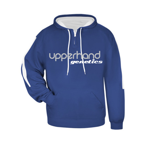 Upperhand Sideline Fleece Hooded Sweatshirt Royal/White- Youth & Adult