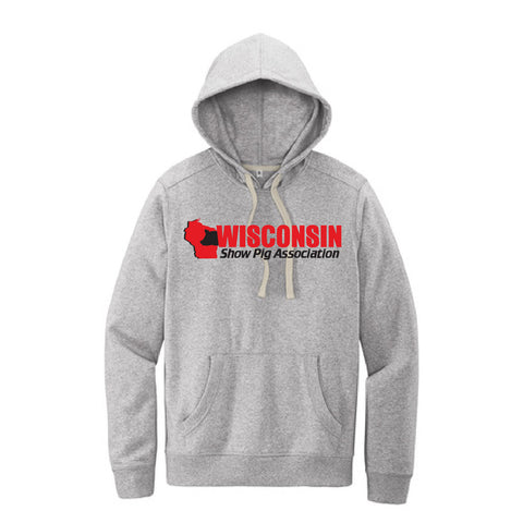 WI Show Pig Assn Contrast String Hooded Sweatshirt - Adult, Unisex - Gray Heather