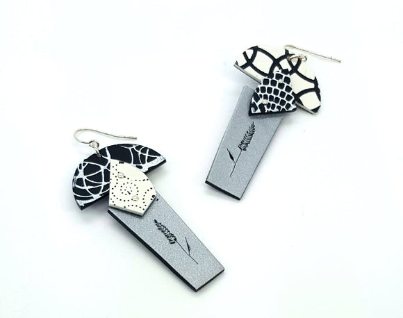 Silk Screen Earrings