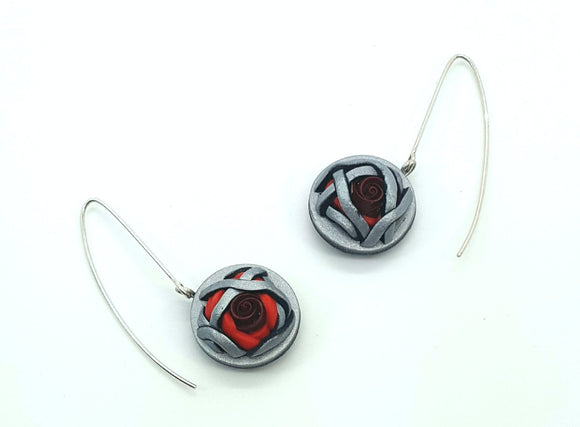 Emerging Roses 1 Earrings