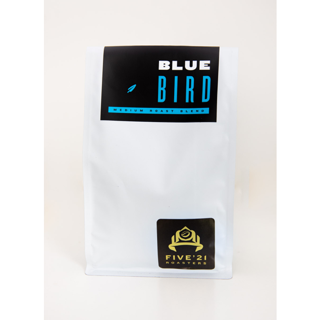 bag of blue bird coffee from Five21 roasters