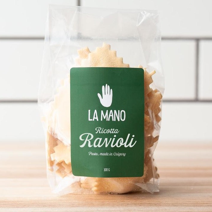 bag of fresh ricotta ravioli