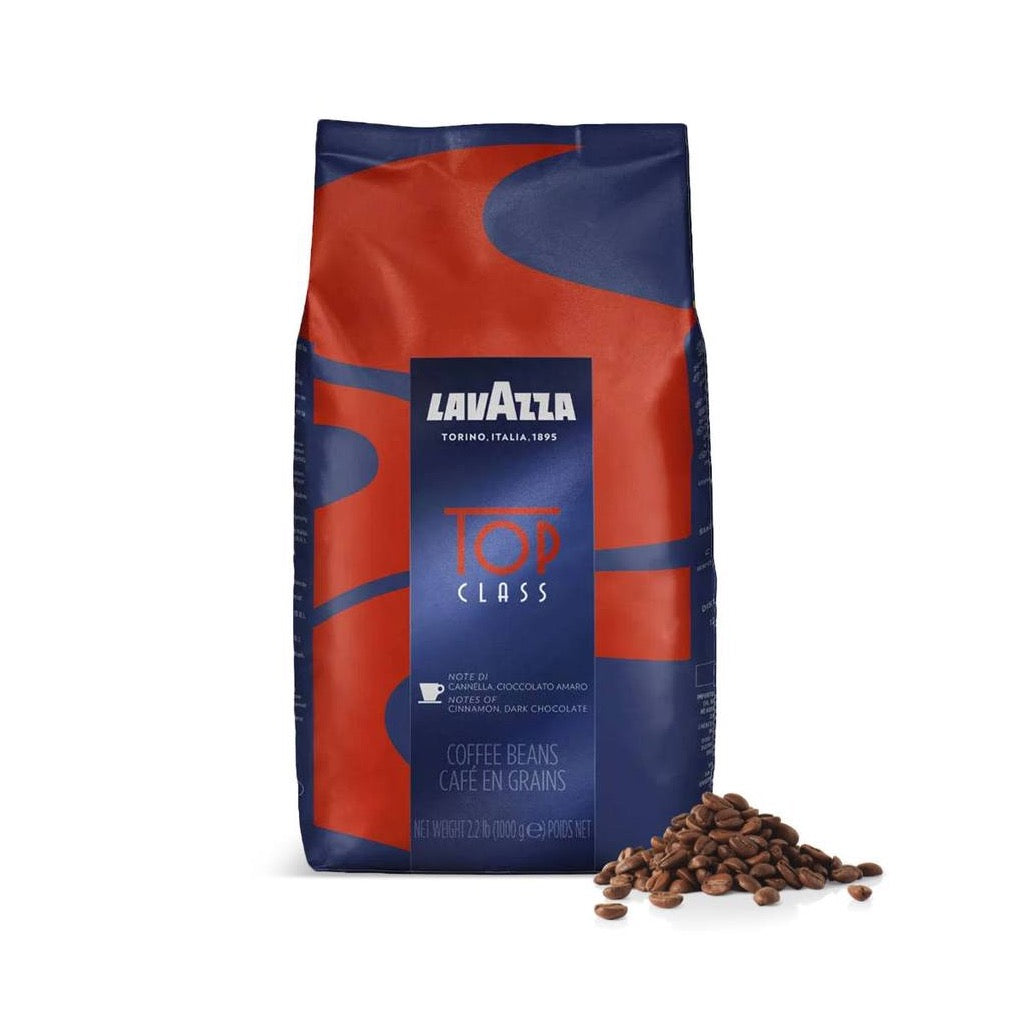 bag or lavazza top class coffee beans