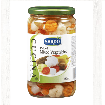 Pickled Mixed Vegetables (Giardiniera)