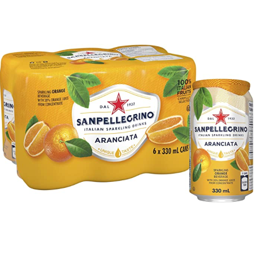 six pack of sanpellegrino orange